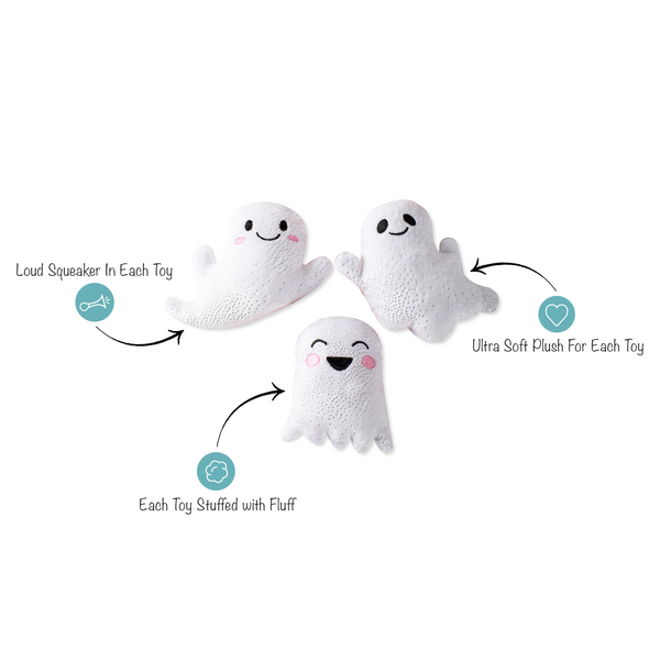 Mini Ghosts, Dog Squeaky Plush toy