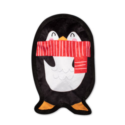 UnStuffed Holiday Penguin, Dog Squeaky Plush toy