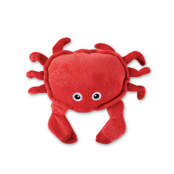 Just a little Crabby Squeaky Plush Dog toy