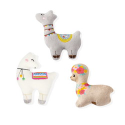 Mini Llama Love, Dog Squeaky Plush toy