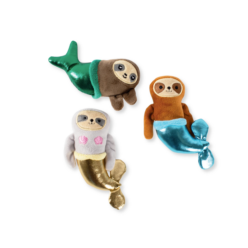 Mini Mermazing Mersloths, Dog Squeaky Plush toy