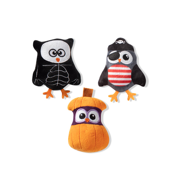 Mini Owl-O-Ween, Dog Squeaky Plush toy