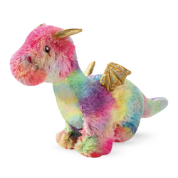 Ember the Rainbow Dragon, Squeaky Plush Dog toy