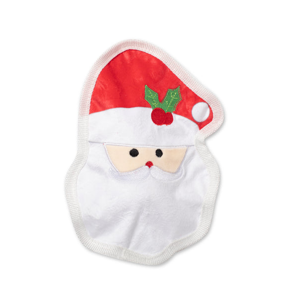 UnStuffed Santa Face, Dog Squeaky Plush toy