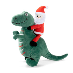 Santa Saurus Rex, Dog Squeaky Plush toy