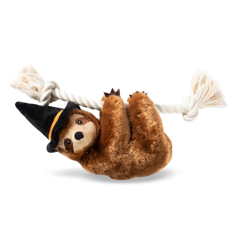 Witchy Sloth on a Rope, Dog Squeaky Plush toy