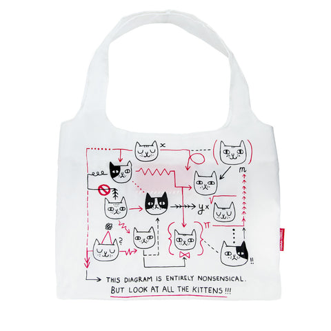 Gemma Correll Kitty Diagram Shopping Bag