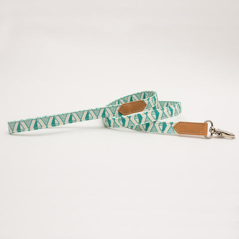 Hiro+Wolf Classic leash: Geo Green