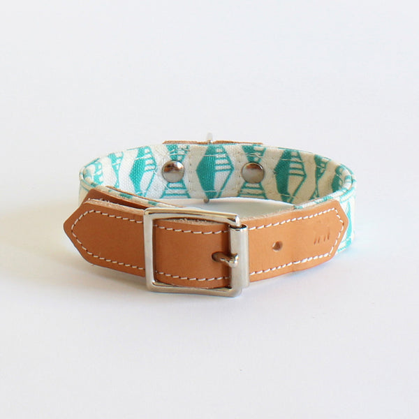 Hiro+Wolf Collar: Geo Green