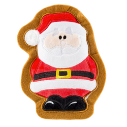 Santa Claus Holiday Cookie, Squeaky Plush Dog Toy