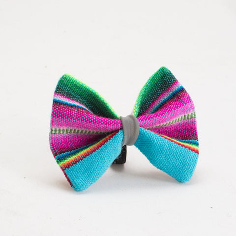 Hiro and Wolf Dog Bowtie Inca Blue