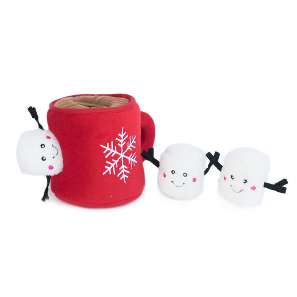 Holiday Burrow Hot Cocoa, Interactive toy for Dogs and Cats