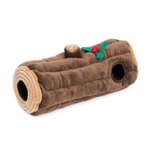 Holiday Burrow Yule Log, Interactive toy for Dogs and Cats
