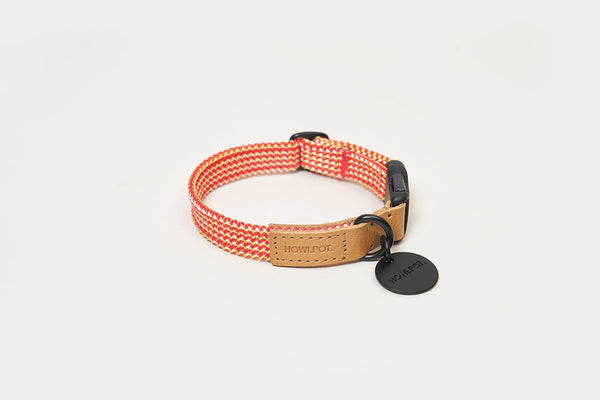 We are Tight: Ribbon Dog Collar, Cherry Twizzle