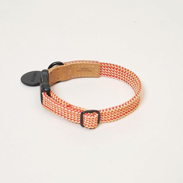 HowlPot We are Tight Ribbon Dog Collar Cherry Twizzle
