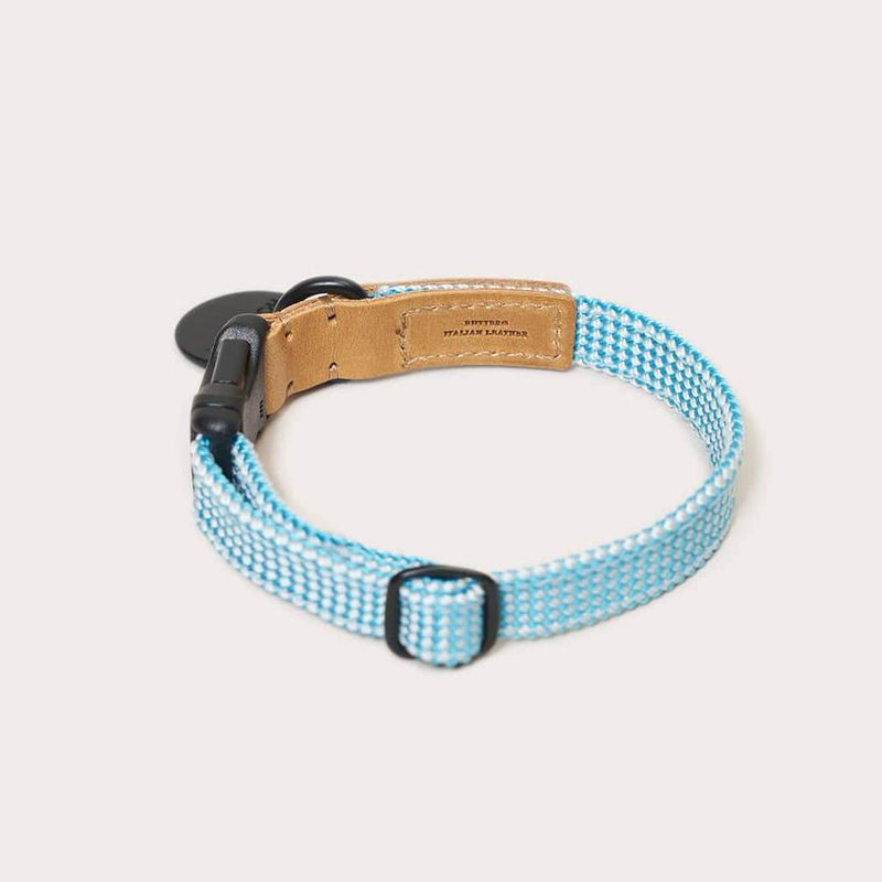 HowlPot We are Tight Ribbon Dog Collar Cloud Bay
