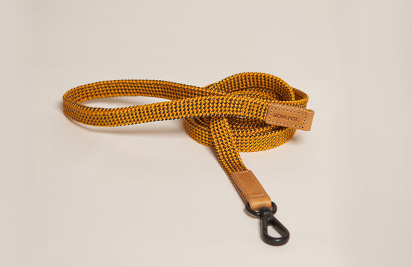 HowlPot We are Tight Ribbon Dog Leash Yellow Jacket