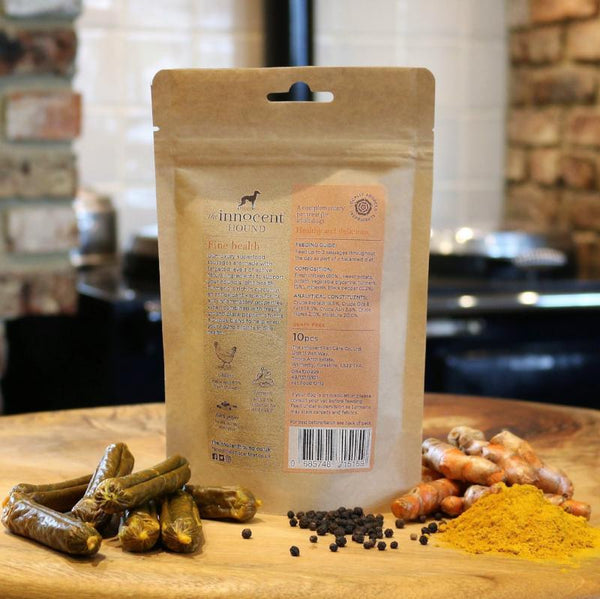 Innocent Hound Sausages for Dogs Joint Support Turmeric and Pepper