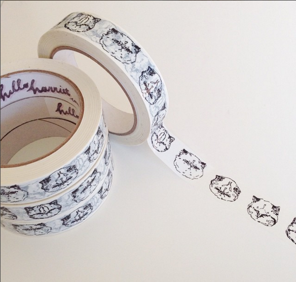 Stationery: HelloHarriet Kitty tape