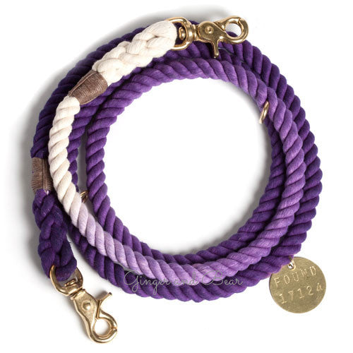 Adjustable Rope Leash, Purple