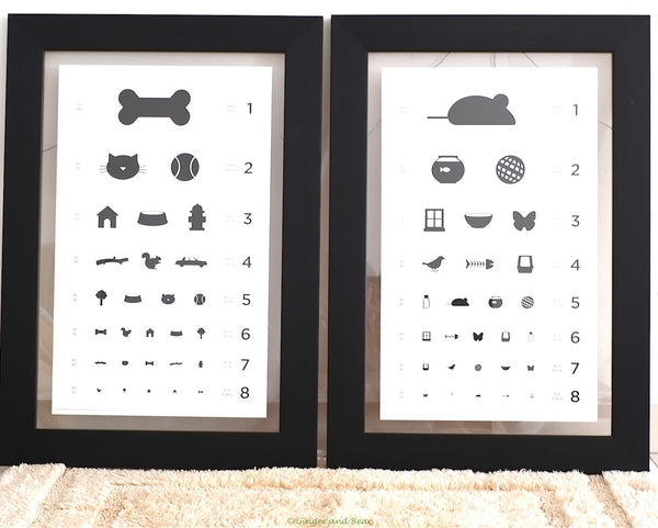 Eye chart for Cats