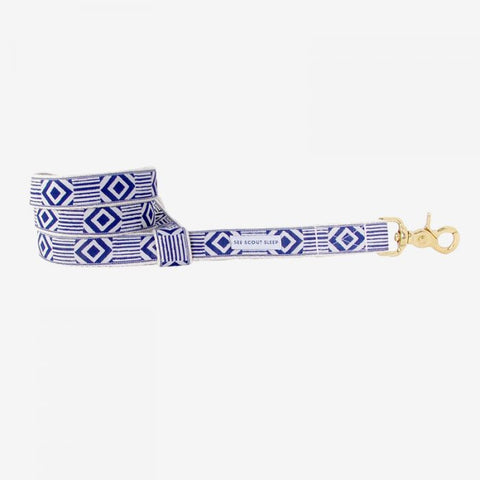Out of My Box Leash, Navy and Cream
