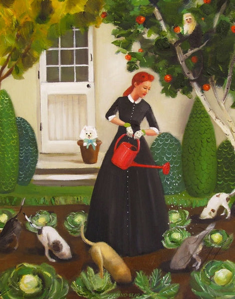 Art print, Miss Moon Was A Dog Governess. Lesson Eighteen: Nurture The Environment And You Will Never Be Hungry.