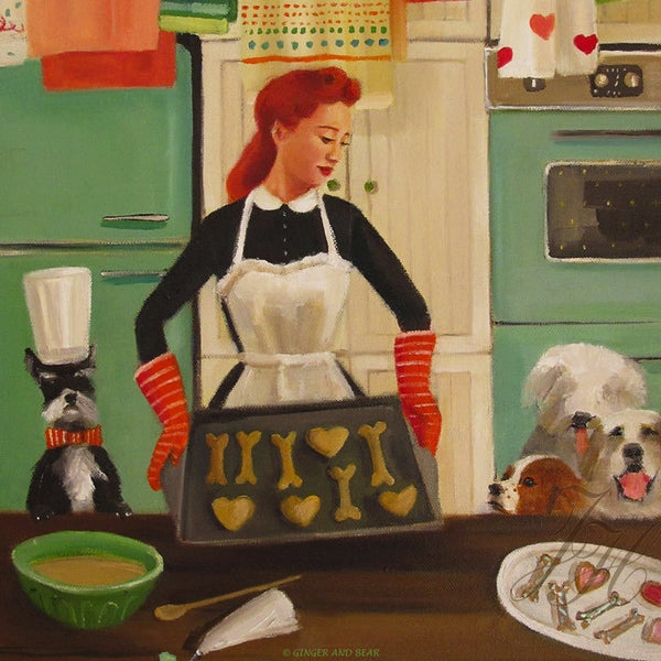 Art print, Miss Moon Was A Dog Governess. Lesson Fifteen: Be Generous With Your Love.