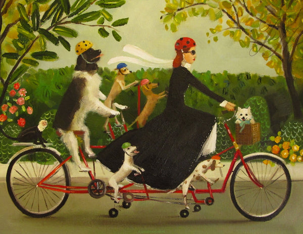 Art print, Miss Moon Was A Dog Governess. Lesson Nine: With A Little Creativity, The Impossible Can Become Possible.