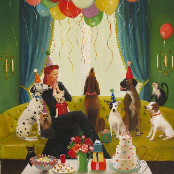 Art print, Miss Moon Was A Dog Governess. Lesson Sixteen: Practice The Art Of Good Conversation; Listen More Than You Speak.