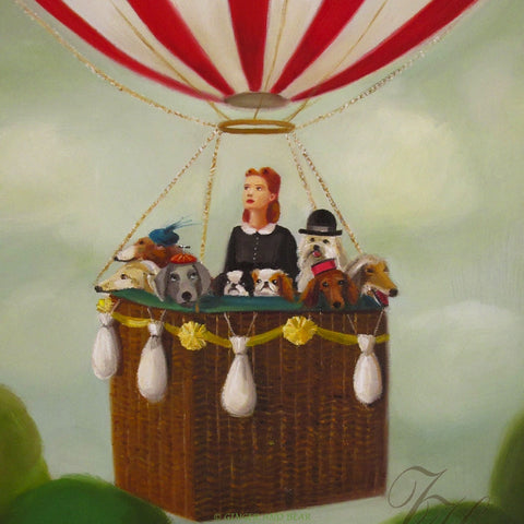 Art print, Miss Moon Was A Dog Governess. Lesson Two: Always Be True To Your Adventurous Spirit.