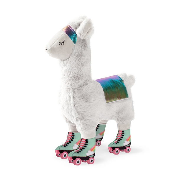 Llama on Roller Skates Dog Squeaky Plush toy