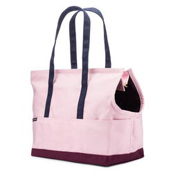 Love They Beast Canvas Pet Tote Rose Burgundy