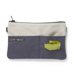 Love They Beast Canvas Pouch Cross Body Pet Tote Attachment Navy