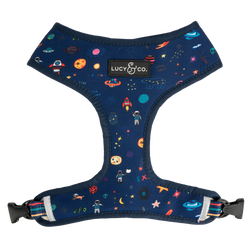 Lucy&Co Reversible Dog Harness: The Space Doodle