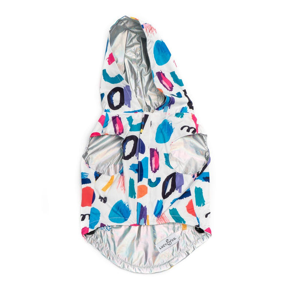 Lucy&Co Reversible Raincoat for Dogs, Singing in the Rain