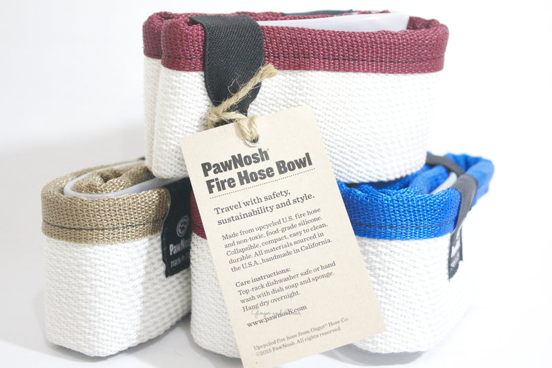 Travel Water bowl: the Firehose in Khaki