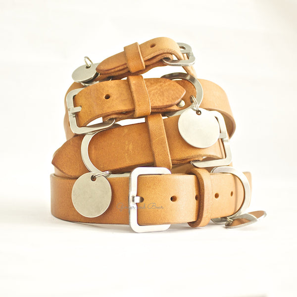 Dog Collar: Tan Leather