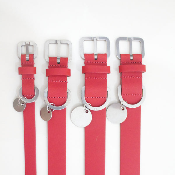 Dog Collar: Red Leather