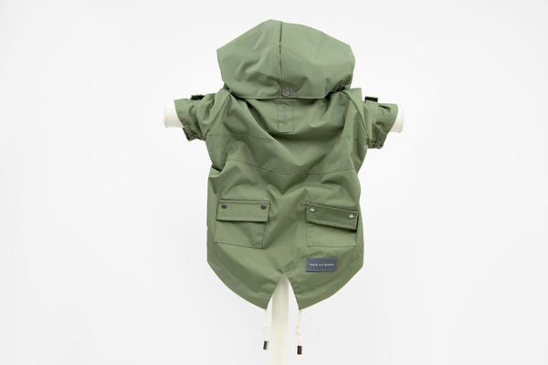 MaxBone Talon Rain Coat for Dogs in Olive