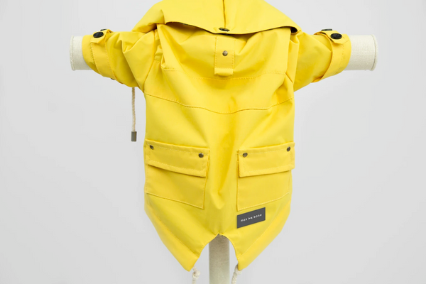 MaxBone Talon Rain Coat for Dogs in Yellow