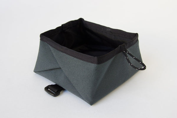 Montara Pop Up Portable Travel Dog Bowl Charcoal