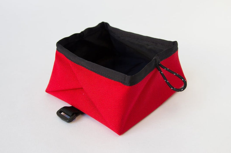 Montara Pop Up Portable Travel Dog Bowl Red