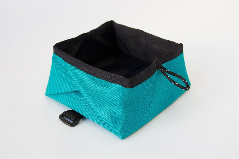 Montara Pop Up Portable Travel Dog Bowl Turquoise