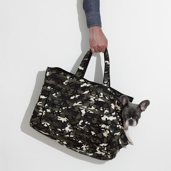 Mr Dog New York Camo X Dog Carrier Black