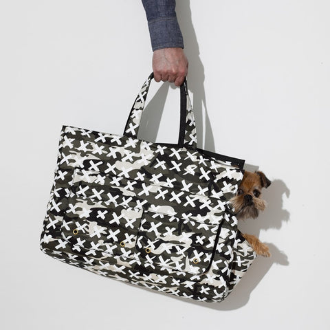 Mr Dog New York Camo X Dog Carrier White