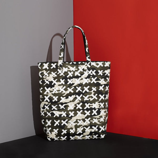 Mr Dog New York Camo X Tote White