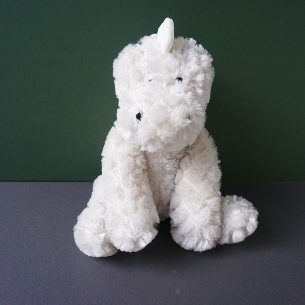 Dean the white Dinosaur Squeaky Plush Dog Toy