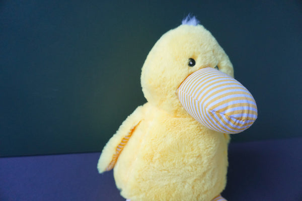 Duncan the yellow Duck Squeaky Plush Dog Toy