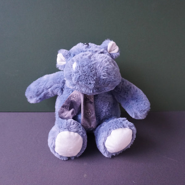 Harper the blue Hippo Squeaky Plush Dog Toy